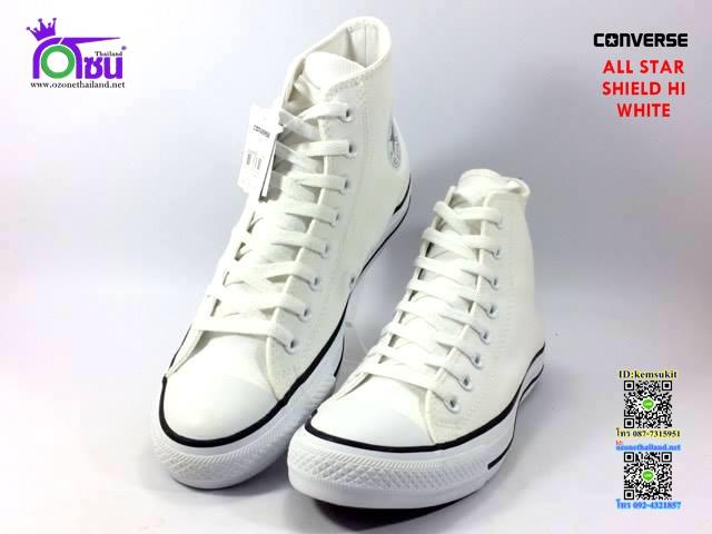 ผ้าใบ Converse All Star Shield Hi White สี ขาว เบอร์4-10