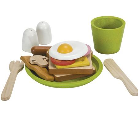 ของเล่นไม้ ของเล่นเด็ก ของเล่นเสริมพัฒนาการ Breakfast Menu ชุดอาหารเช้าสำหรับเด็ก 2 ปี [ส่งฟรี]