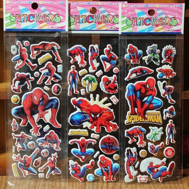 3 x Spider man Sticker 3D