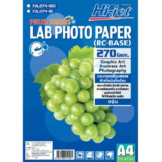 กระดาษอิ้งเจ็ทผิวกึ่งมันกึ่งด้าน 270 แกรม A4/200 แผ่น FRUIT SERIES LAB PAPER 270 GSM.