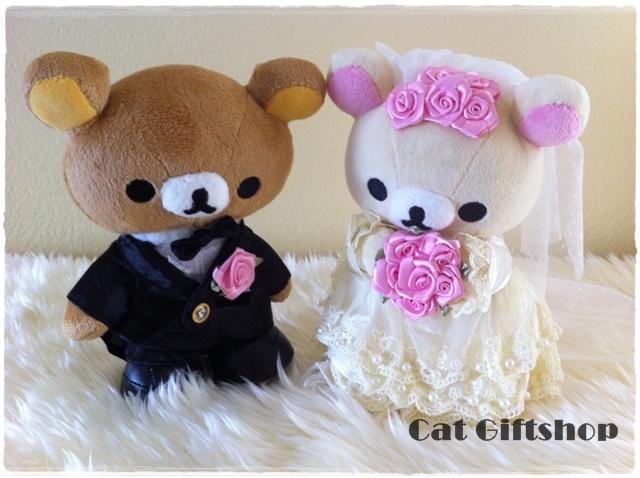พร้อมส่ง :: ตุ๊กตาแต่งงาน Rilakkuma 22 cm