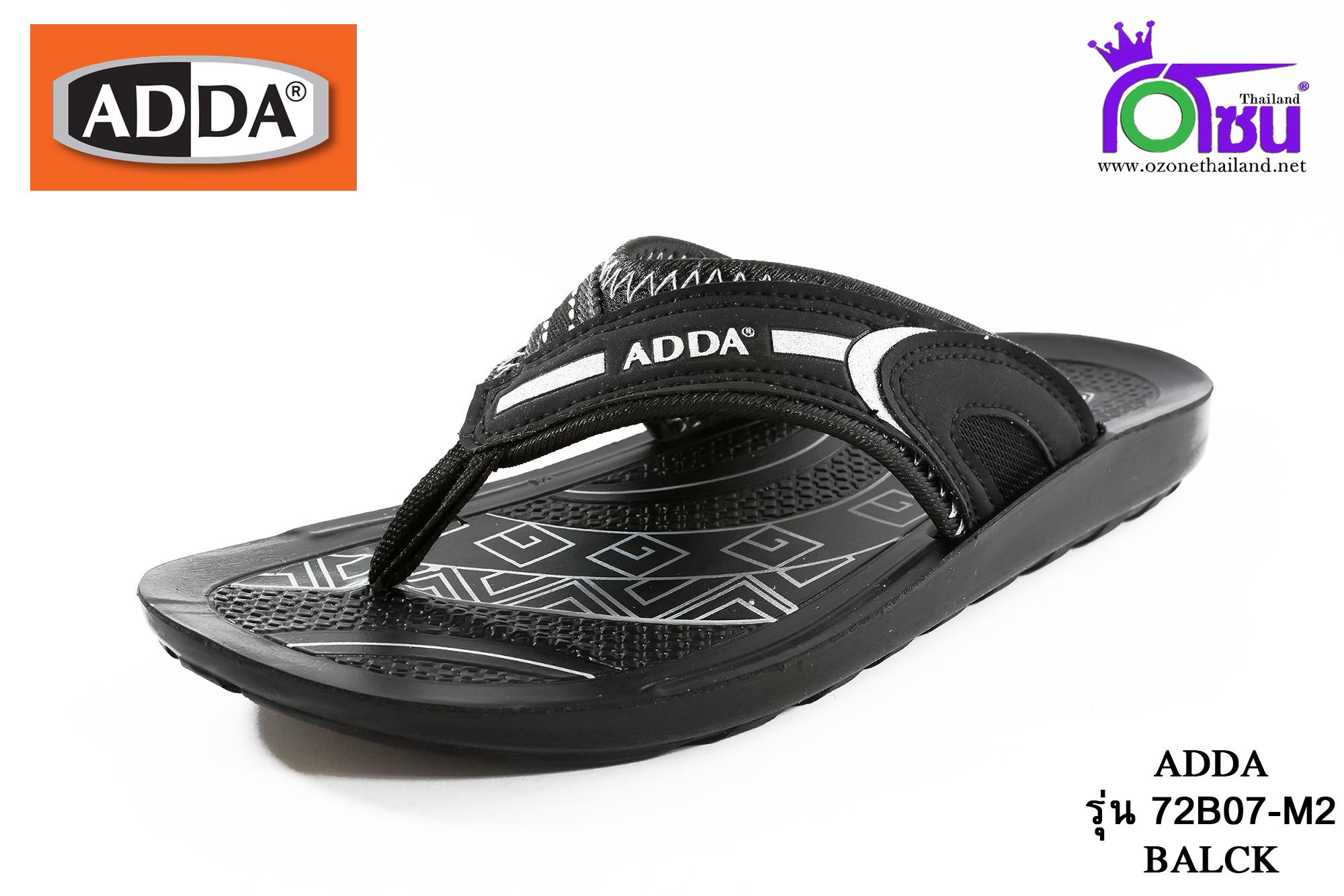 รองเท้าแตะหนัง ADDA แอดด๊า รหัส 72B07 สีดำ เบอร์ 39-43