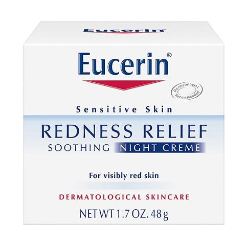ครีมบำรุงผิวหน้าสำหรับกลางคืน Eucerin Redness Relief Soothing Night Creme (48g.)