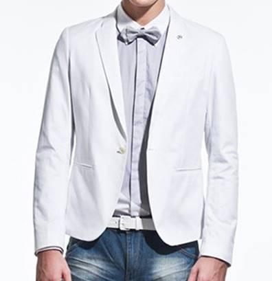 เล็กพิเศษ!เสื้อสูทสั้น แฟชั่นปกพิเศษ สีขาว size No.34 36 38