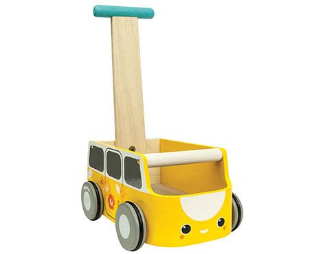 ของเล่นไม้ ของเล่นเด็ก ของเล่นเสริมพัฒนาการ Van Walker – Yellow (ส่งฟรี)