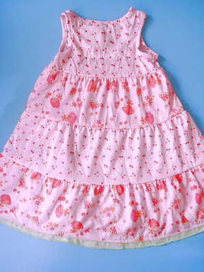 CTP023 Carter's ชุดนอนเด็กหญิง ชุดลำลอง สาวน้อย สีชมพูสกรีนลายเชอรี่สลับลายดอกไม้ Size 2T