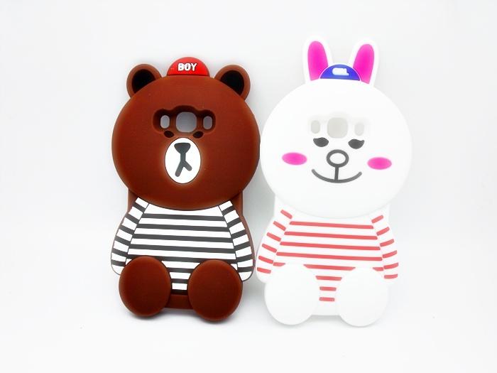 เคสซิลิโคน3D หมีบราวน์ ซัมซุง เจ 7(version 2)