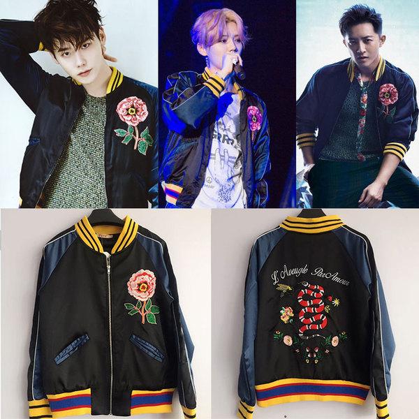เสื้อแฟชั่นเกาหลี เสื้อกันหนาวแฟชั่น EXO LUHAN Lee Jung Sok สีดำ