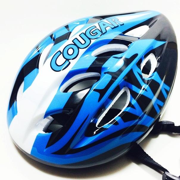 หมวกโฟมป้องกันการกระแทก สีน้ำเงิน-ขาว Size L