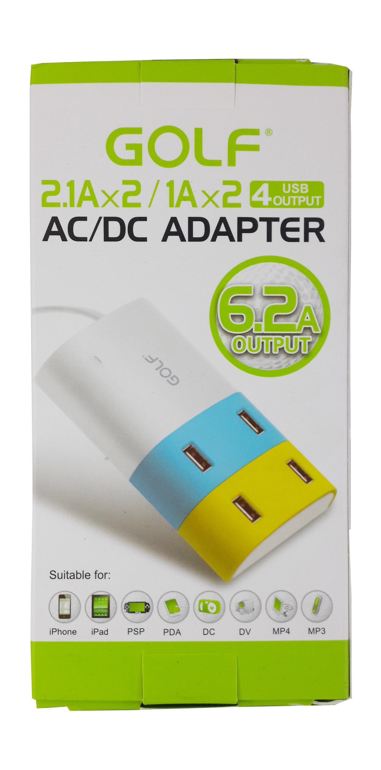 Golf Adapter 4 USB 6.2A