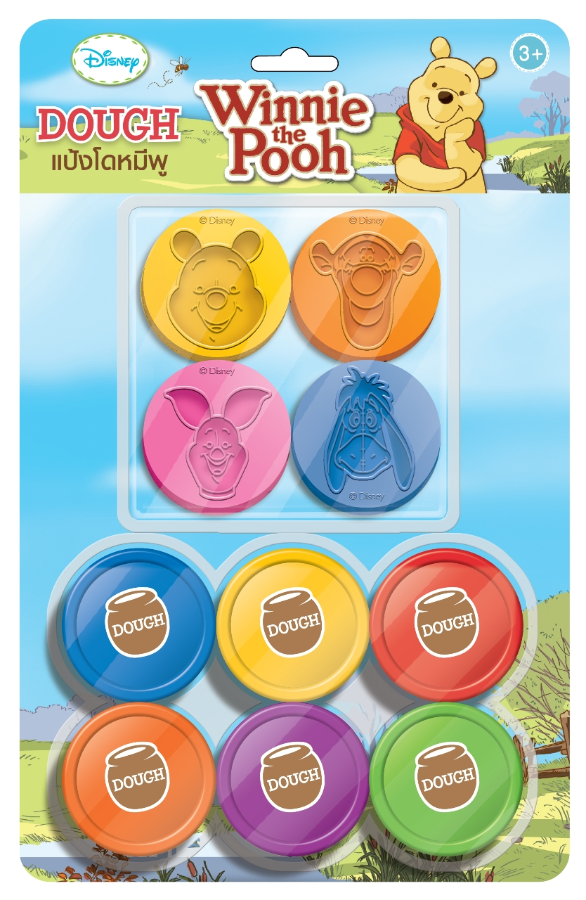 แป้งโดว์ 25 กรัม 6 สี + แม่พิมพ์หมีพู (Winnie the Pooh Dough 25 g. Set)