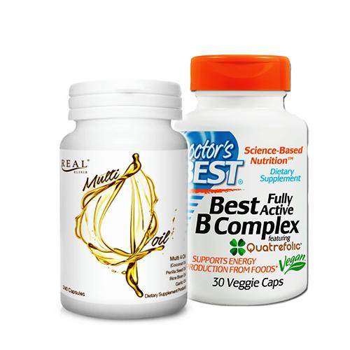 Doctor's Best, Best Fully Active B Complex, 30 Veggie Caps + MULTI 4 OIL