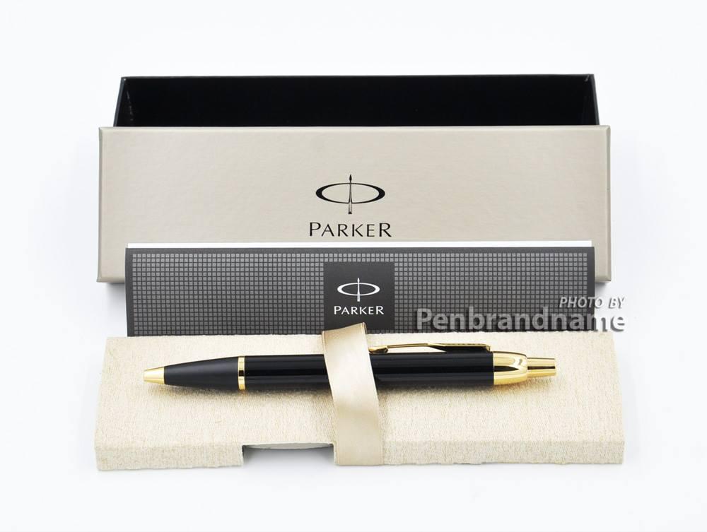ปากกาแบรนด์เนม ปาร์กเกอร์ Parker ปากกาลูกลื่น BP แลคดำ จีที Parker IM GT BP (สีดำเงา)