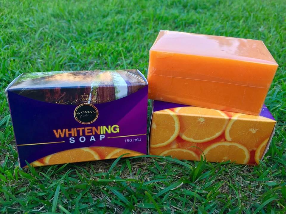 สบู่กลูต้าส้มเข้น Whitening Soap