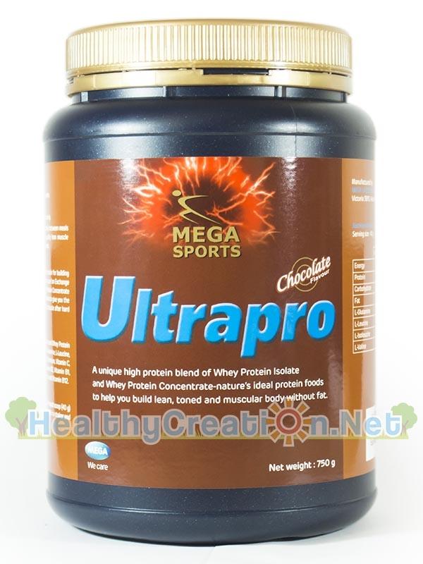 Mega We Care Ultrapro Chocolate ปริมาณสุทธิ 900 g. อัลตร้าโปร เวย์โปรตีนรสช็อกโกแลต สูตรครบถ้วนที่ช่วยให้การสร้างกล้ามเนื้อ