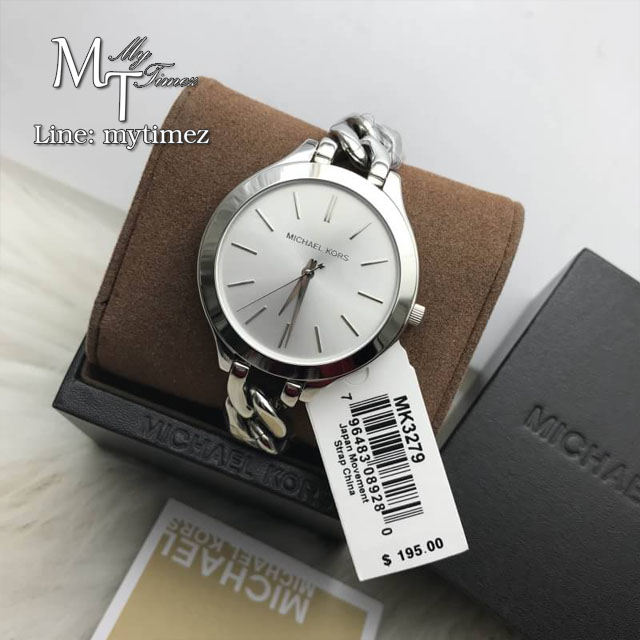 นาฬิกาข้อมือ MICHAEL KORS รุ่น Slim Runway White Dial Ladies Watch MK3279