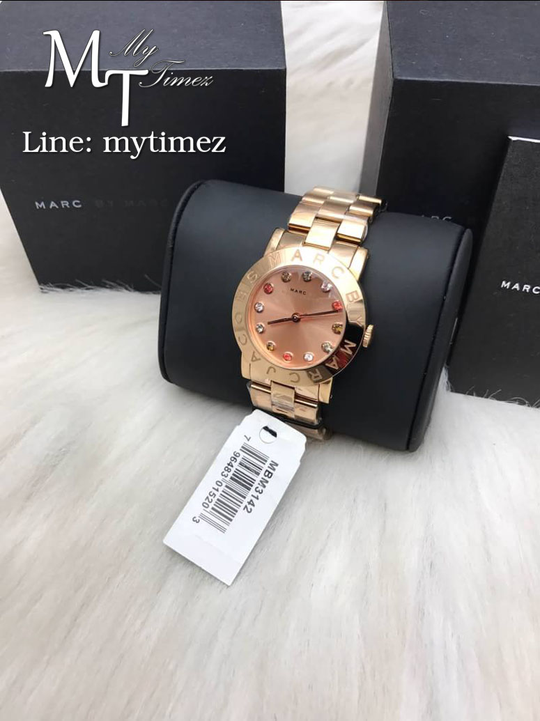 MARC BY MARC JACOBS Amy Rose Gold Multi Glitz Stainless Steel Ladies Watch MBM3142