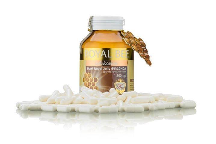 นมผึ้ง RoyalBee Maxi Royal jelly 6% 1500mg 30 เม็ด