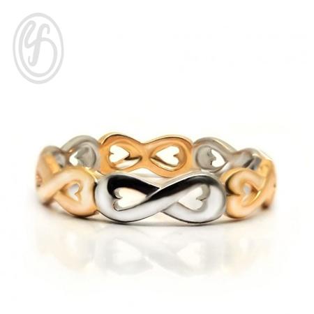 แหวนเงินเกลี้ยง เงินแท้ 92.5% ชุบทอง และทองคำขาว แหวนอินฟินิตี้ หน้ากว้าง 5 มม. เหมาะเป็นของขวัญในวันพิเศษให้คนพิเศษของคุณ