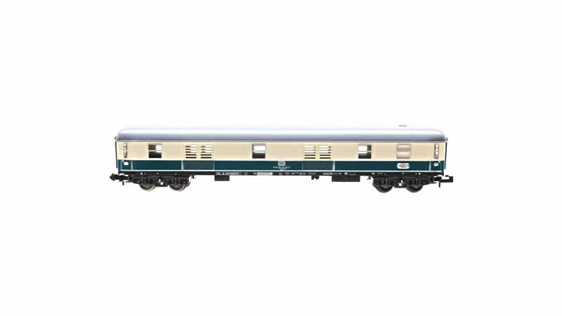 Trix DB Baggage Blue Coach - N Scale