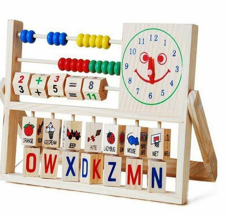 ของเล่นเสริมพัฒนาการ ชุดเรียนรู้คำศัพท์ ลูกคิด นาฬิกา