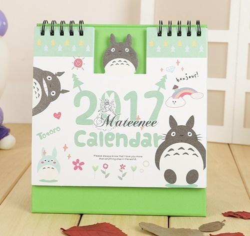 ปฏิทินตั้งโต๊ะ Totoro 2017 #โทโทโร่