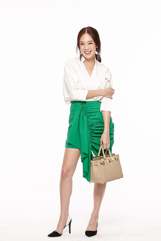 กระโปรง Chill out Layer Skirt สีเขียว