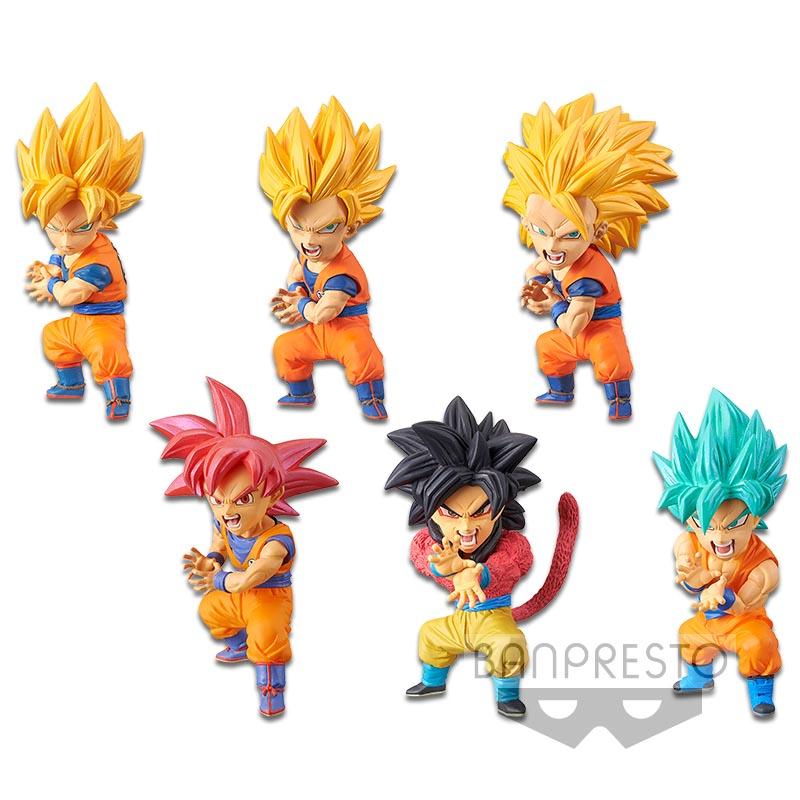 Goku Super Saiyan Set ของแท้ JP แมวทอง - WCF Banpresto [โมเดลดราก้อนบอล] (Rare) 6 ตัว