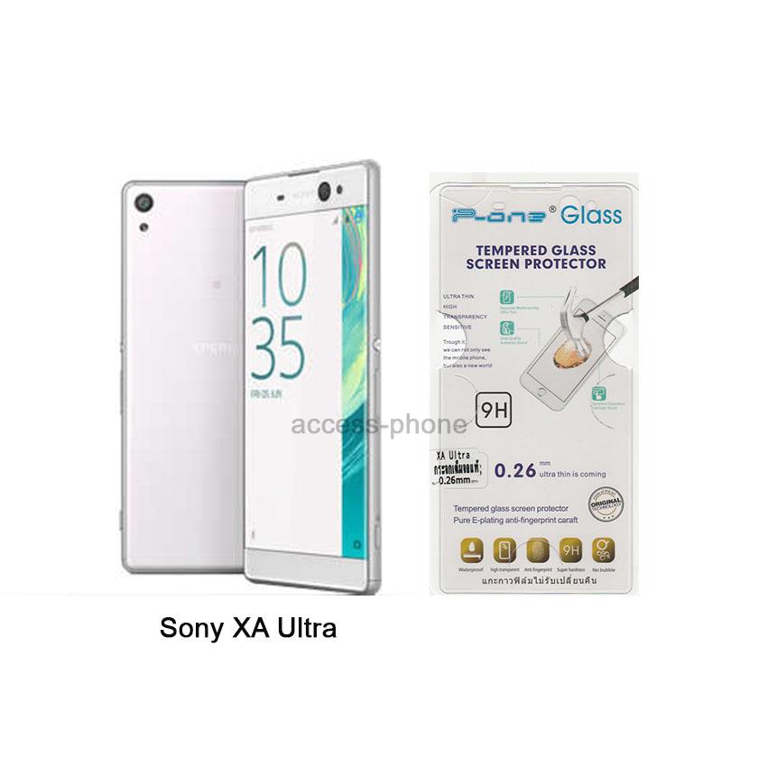 P-one ฟิล์มกระจก Sony XA Ultra เต็มจอสีใส