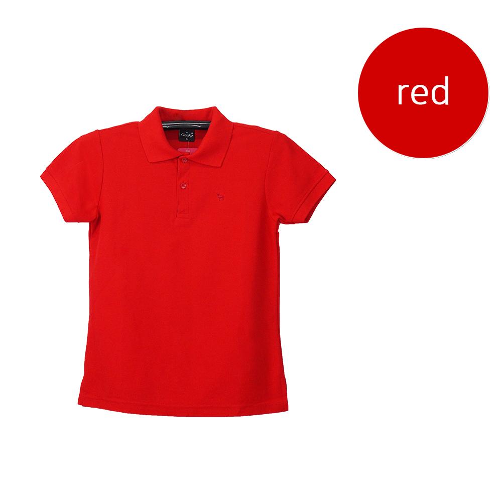 เสื้อโปโลหญิงสีแดง