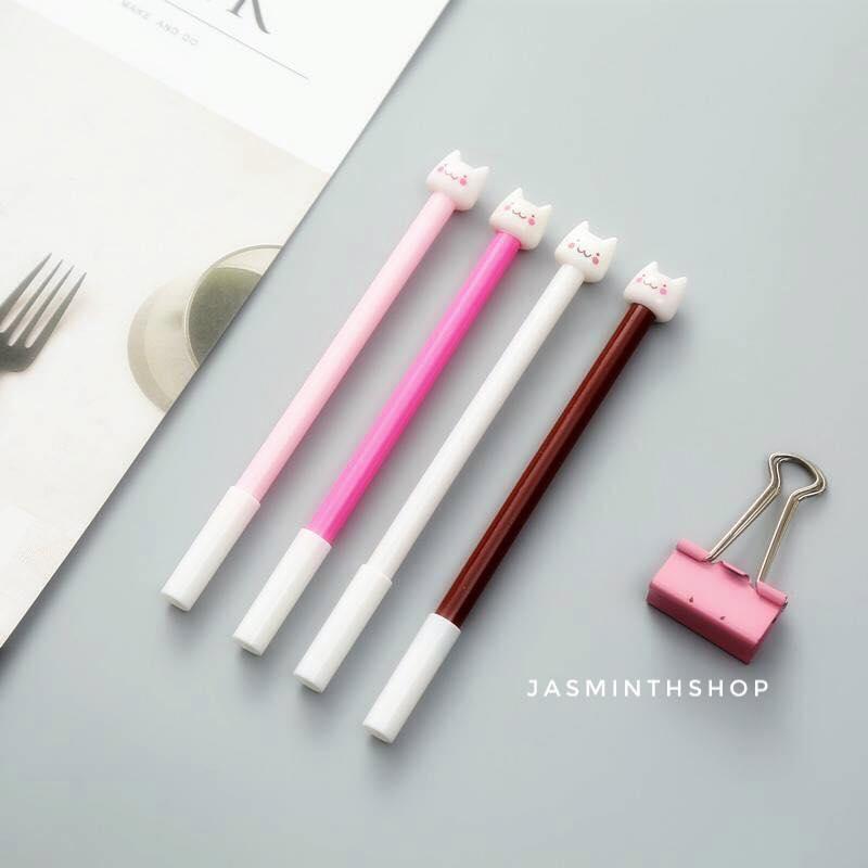ปากกาแมวสีหวาน ปากกาหัวการ์ตูน ปากกาหัวแมว