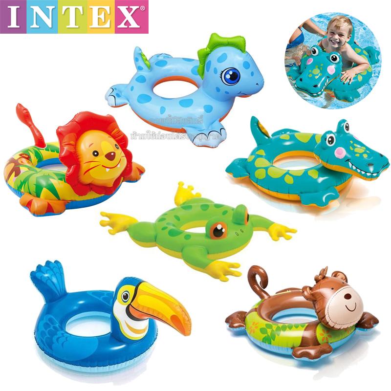Intex ห่วงยางสวมเอวลายสัตว์ [Intex-58221]