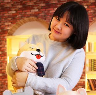 ตุ๊กตาชิบะ ท่านั่งสีน้ำตาล 35 cm