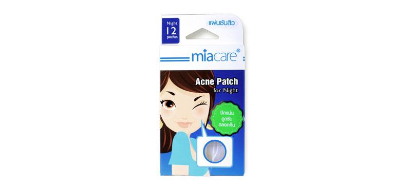 Miacare Acne Patch For Night 12pcs แผ่นซับสิวสำหรับกลางคืน แผ่นหนาเพื่อการดูดซับที่ดียิ่งขึ้น ยึดติดกับผิวได้ดีแม้ขณะหลับ ช่วยลดโอกาสในการเกิดรอยแผลเป็นจากสิว