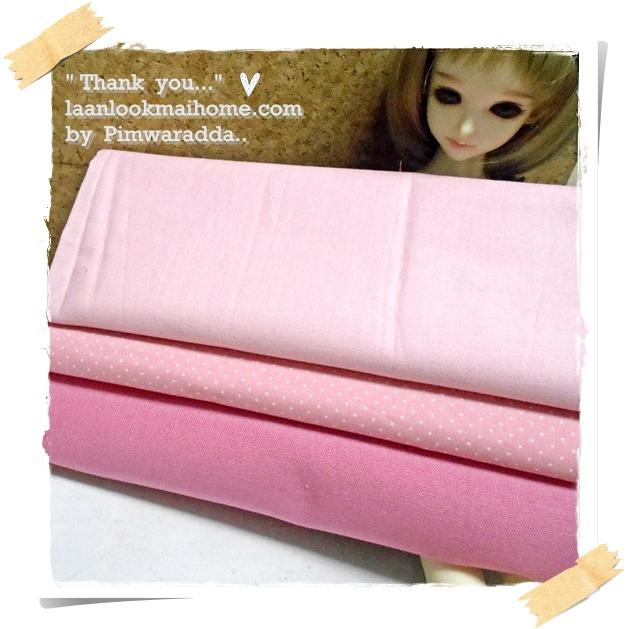 ผ้าจัดเซตผ้าในตลาดไทย คอตตอน 3ชิ้น ขนาดผ้าแต่ละชิ้น 50 X 55cm