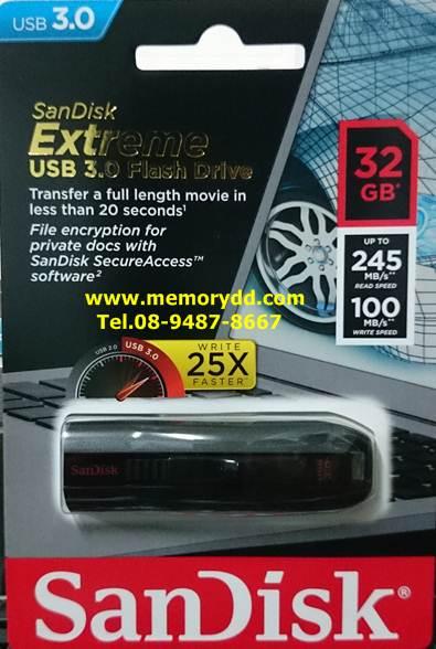 Sandisk Flashdrive Extreme 32GB USB3.0 (Read 245MB/Write 100MB)(SDCZ80_032G_G46)
