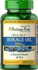 Puritan's Pride - Borage Oil 1000 mg 100 Softgels