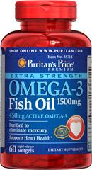 Puritan's Pride - Omega-3 Fish Oil 1500 mg 60 Softgels