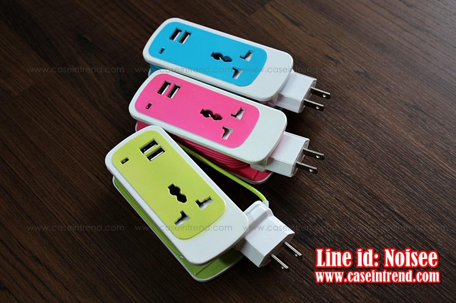 ปลัํก Dual USB 3-in1
