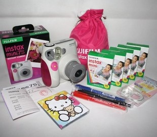 [Preorder] เซ็ตกล้องถ่ายรูปโพลาลอยด์ Fuji Mini 7S สีชมพู พร้อม 5 แพ็คโฟโต้เปปเปอร์ และของแถมอื่นๆ อีกมากมาย Fuji imaging Mini 7S Polaroid Mini7s camera deals suit pink