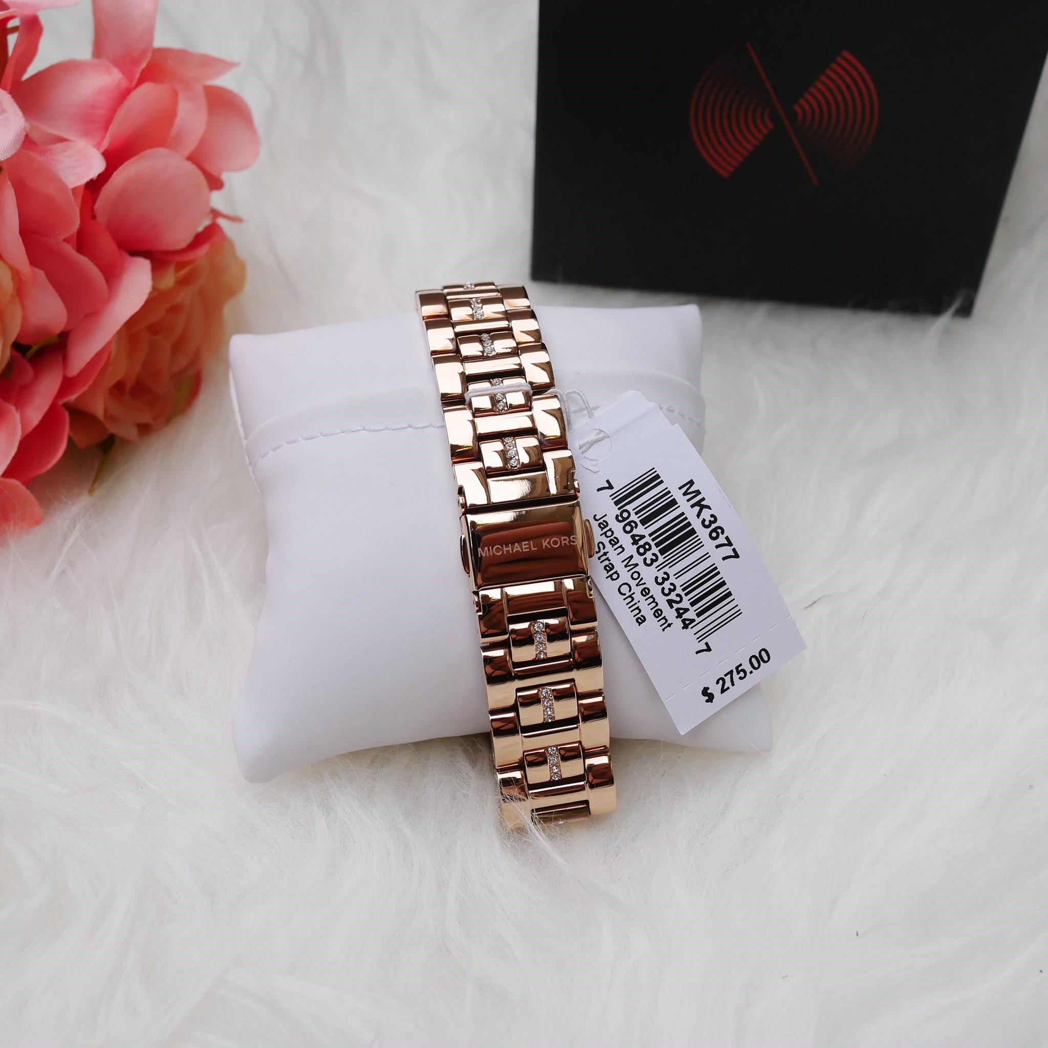 ed61666914b7 MICHAEL KORS Libby Rose Gold Dial Ladies Watch MK3677 - Little ...