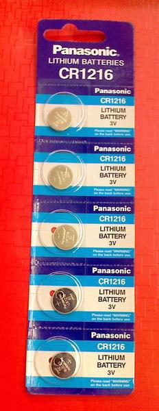 ถ่านกระดุม Panasonic CR1216 จำนวน 5 ก้อน/แผง