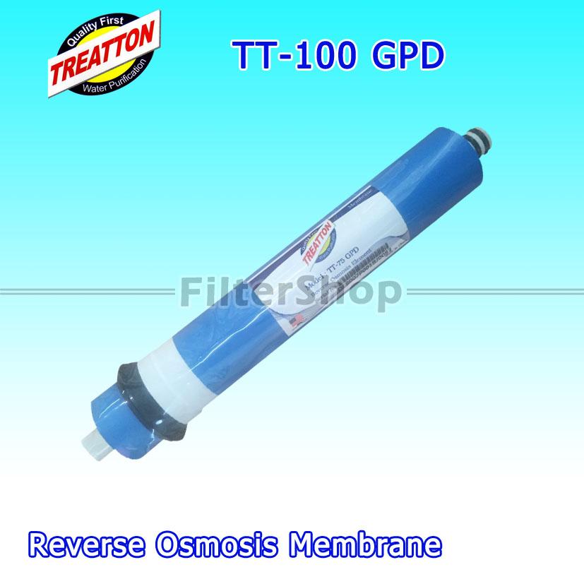 ไส้กรองน้ำ RO Membrane TREATTON TT-100 GPD