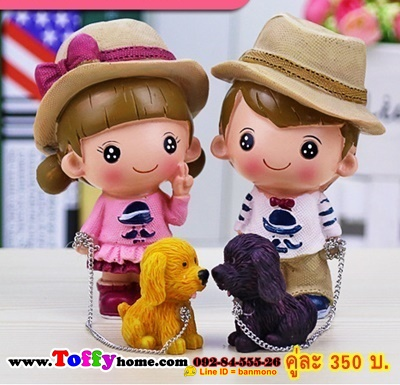 ตุ๊กตาเรซิ่นห้อยขาสื่อรักจากน้องหมา ขนาด 2*4 cm. , 3*11 cm.