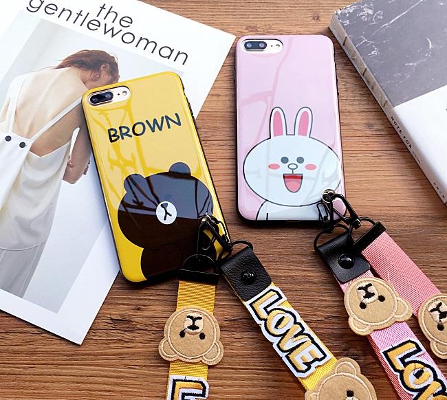 (642-004)เคสมือถือไอโฟน Case iPhone7 Plus/iPhone8 Plus เคสนิ่ม Line แฟชั่นน่ารักๆ