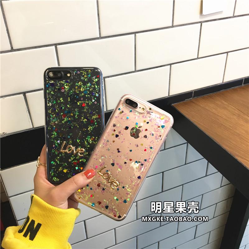 (513-113)เคสมือถือไอโฟน Case iPhone7 Plus/iPhone8 Plus เคสนิ่มใสอีพ็อกซี่ LOVE