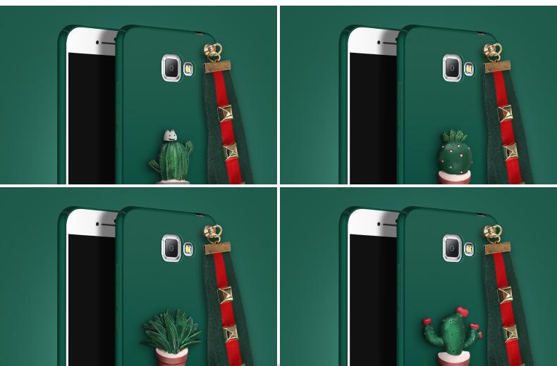 (477-013)เคสมือถือซัมซุง Case Samsung A9 Pro เคสนิ่มลายกระบองเพชร 3D