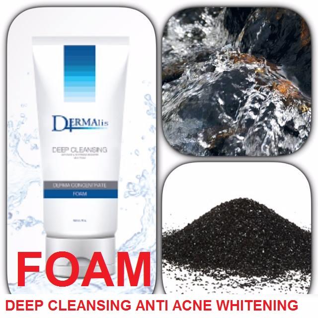 DERMA CONCENTRATE FOAM DEEP CLEANSING ANTI ACNE WHITENING ผลิตภัณฑ์ทำความสะอาดผิวหน้าด้วยส่วนผสมจากธรรมชาติโคลนเดดซี (DEAD SEA) ผสมน้ำแร่ธรรมชาติจากหินภูเขาไฟ