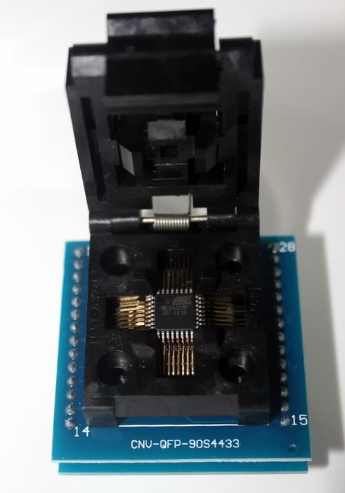 Socket 28 CHIP PROGRAMMER SOCKET TQFP32 QFP32/ LQFP32 TO DIP28 adapter socket for atmega32a atmega168 atmega8