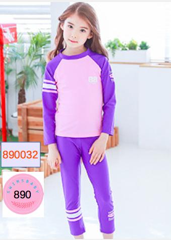 ชุดว่ายน้ำแขนยาว กันยูวี purple